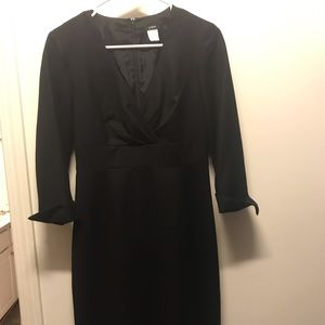 Black Wool J. Crew Work Dress